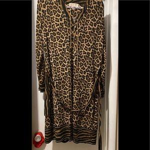 Michael Kors animal print long sleeve dress